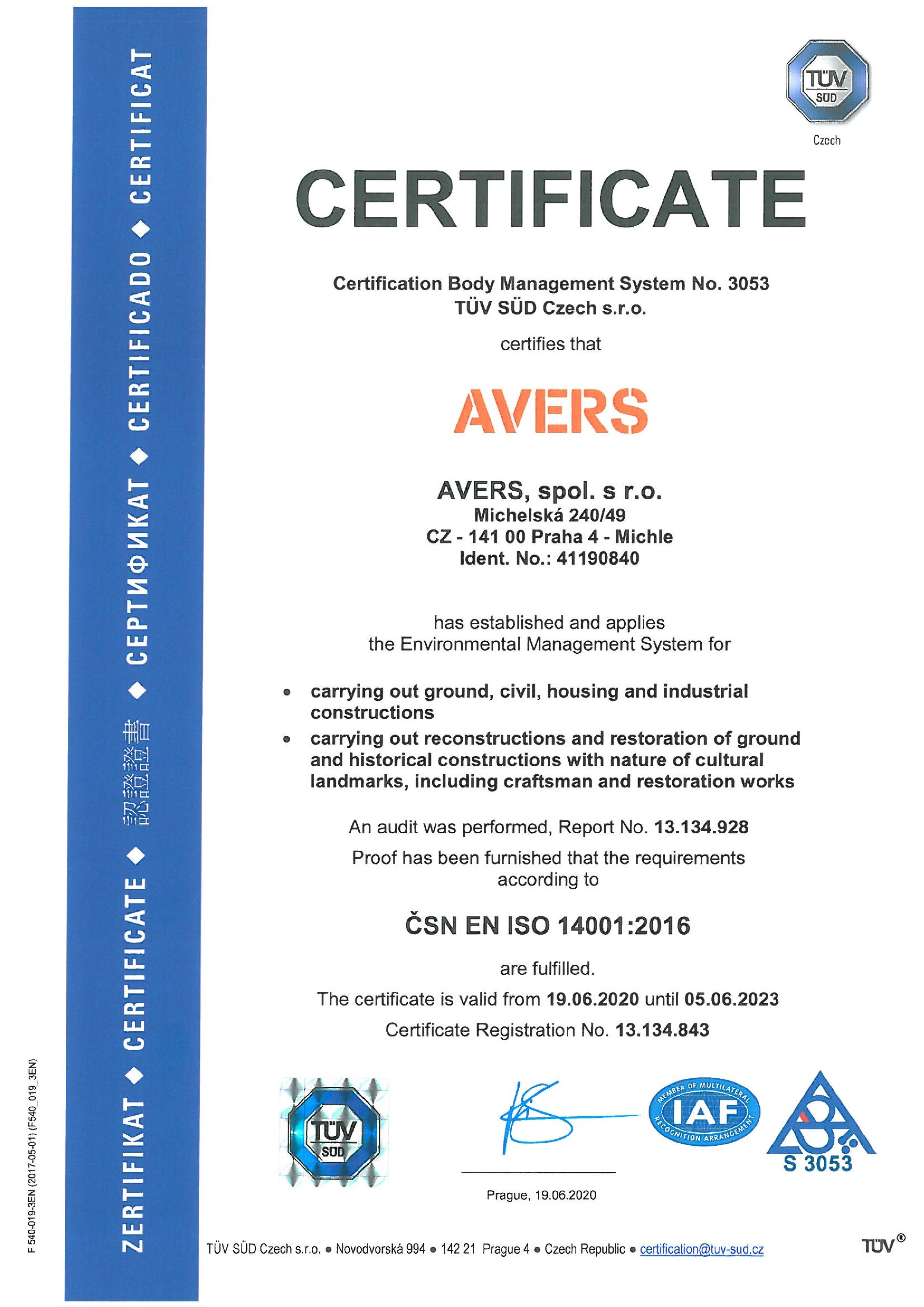 CERTIFICATE-ISO-14001 2016-platnost-do-5.6.2023-page-001